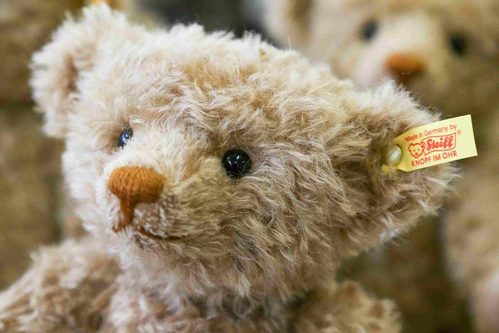 16 Inches Children Cuddly Soft Woven Handmade Plush Toy Steiff Happy Teddy Bear