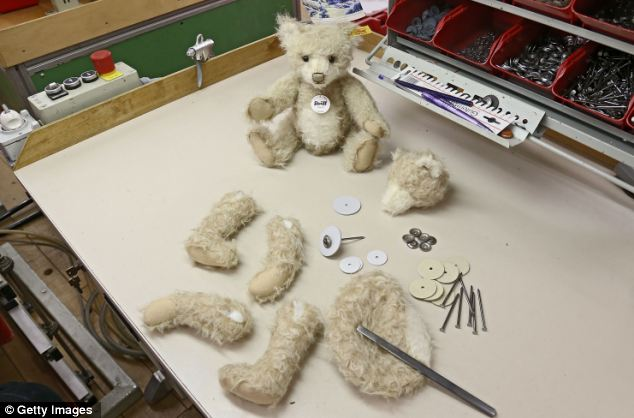 Each bear is lovingly created by hand