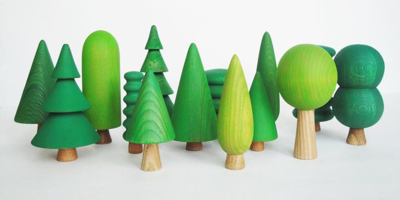 Woodland Trees Set