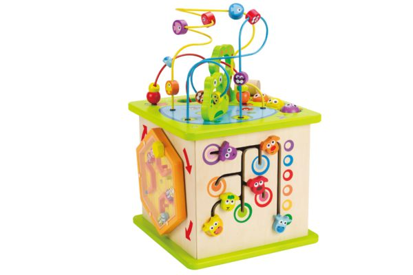 Wooden Activity Cube – Hape Country Critters